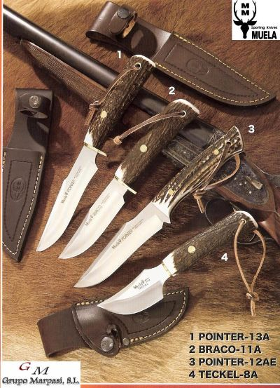 hunting knives UNTING KNIVES POINTER BRACO TECKEL