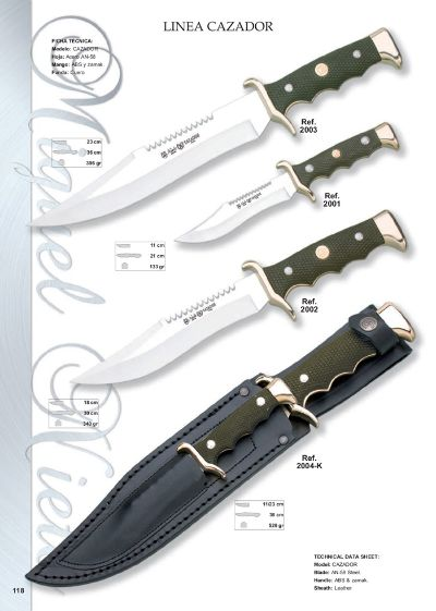 hunting knives mountain knives LINEA CAZADOR