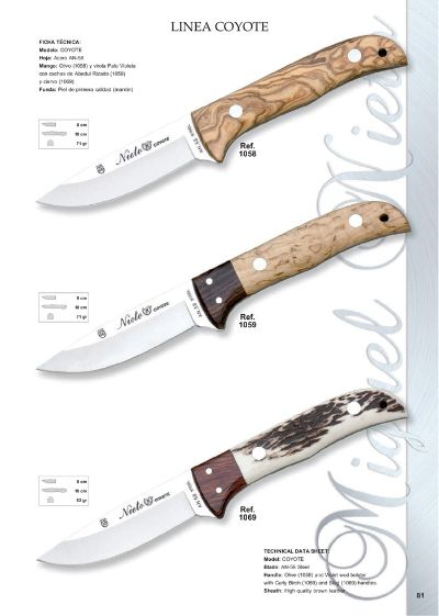 hunting knives mountain knives LINEA COYOTE 2