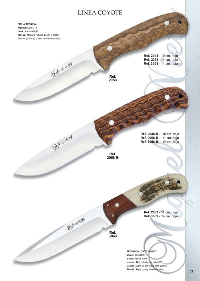 hunting knives LINE COYOTE 3