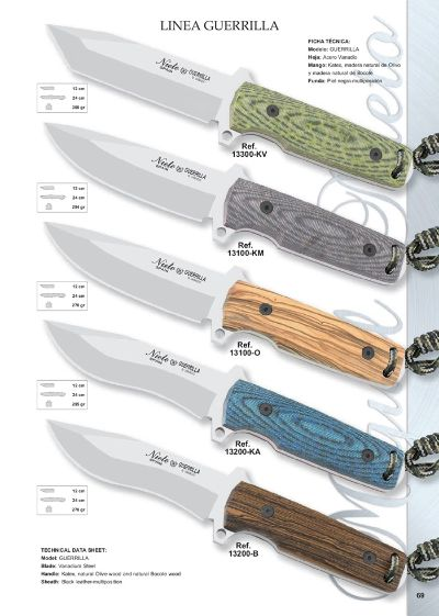 tactical knives GUERRILLA LINE