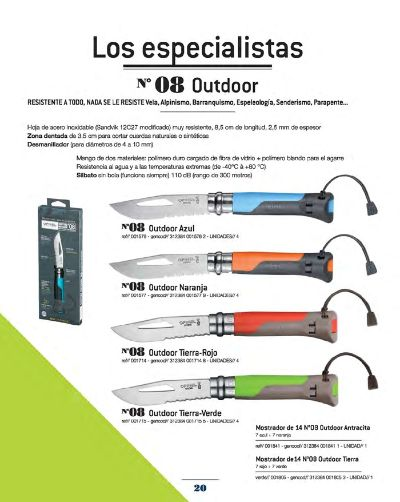 navalhas campo OPINEL OUTDOOR