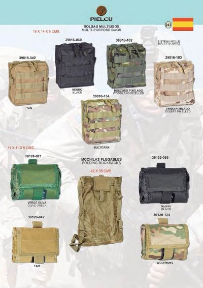 camping and survival MULTIPURPOSE BAGS WITH MOLLE SYSTEM