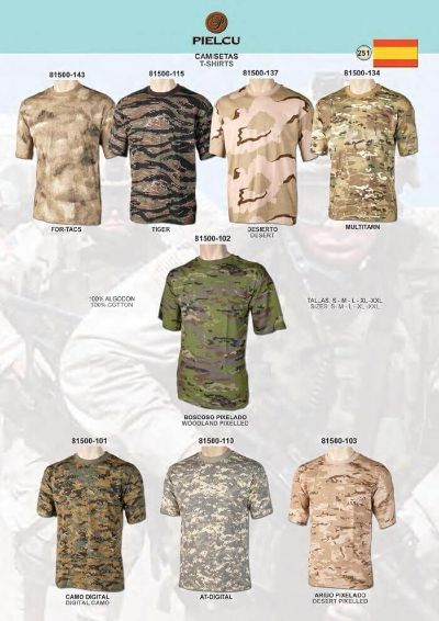 camping and survival clothing CAMOUFLAGE SHIRTS