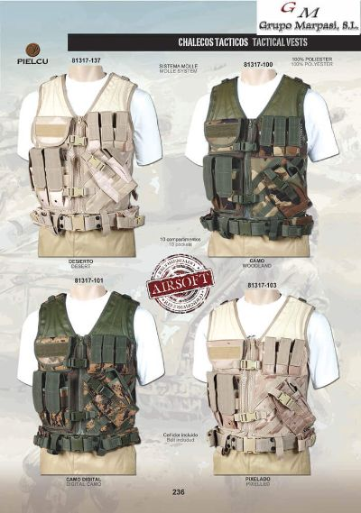 camping and survival vests TACTICAL VESTS AIRSOFT 4