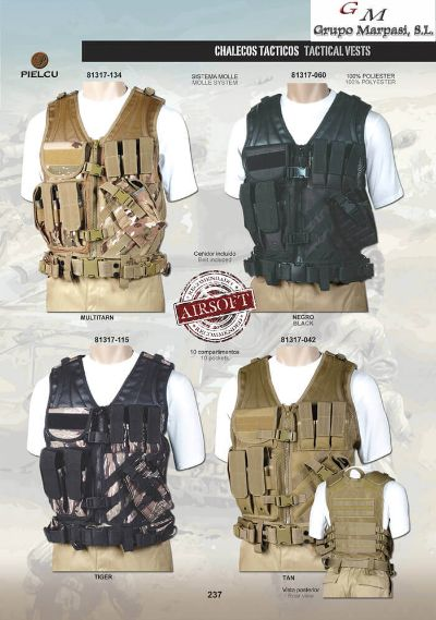 camping and survival vests TACTICAL VESTS AIRSOFT 5