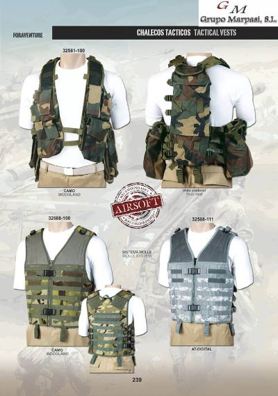 camping and survival vests TACTICAL VESTS AIRSOFT 7