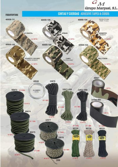 camping and survival ADHESIVE TAPES AND CORDS