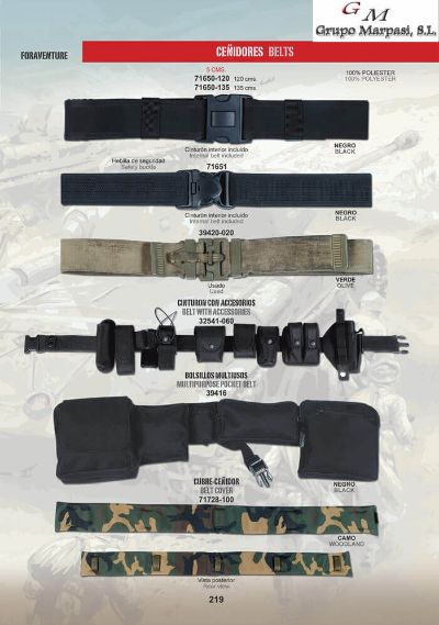 camping and survival BELTS