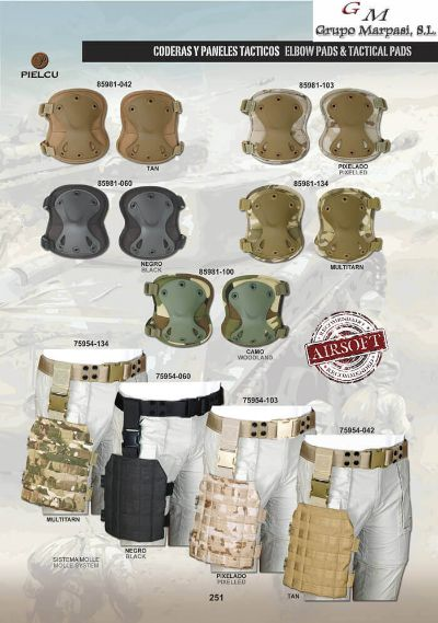 airsoft CODERAS Y PANELES TACTICOS