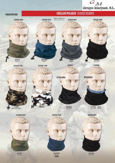camping and survival clothing FLEECE SCARFS