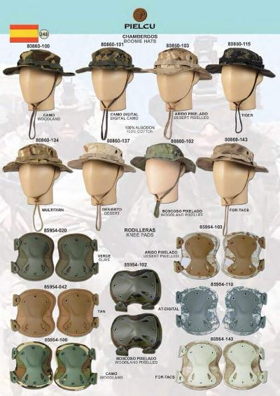 camping and survival KNEE AND HATS