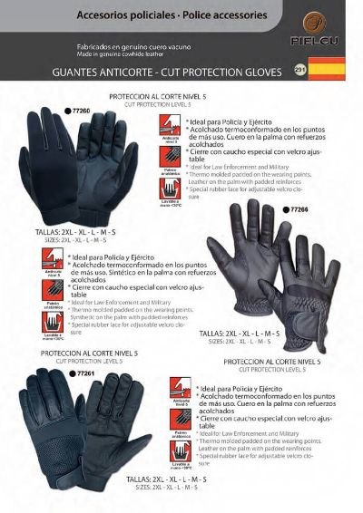 camping and survival POLICE CUT-OFF GLOVES