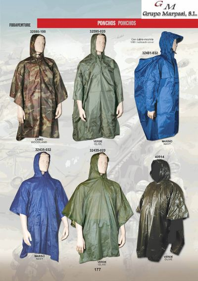 camping and survival PONCHOS