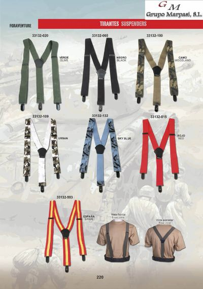 camping and survival clothing SUSPENDERS