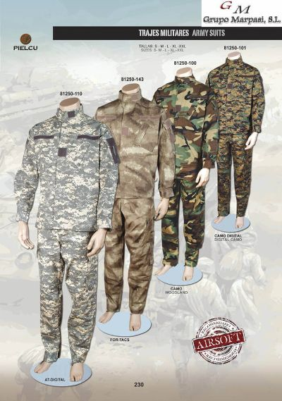 camping and survival clothing ARMY SUITS