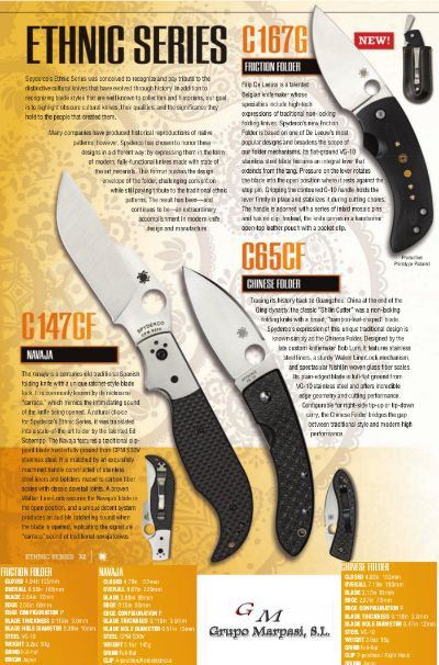 pocketknives tactical SPYDERCO ETHNIC SERIES 1 FOLDING KNIVES
