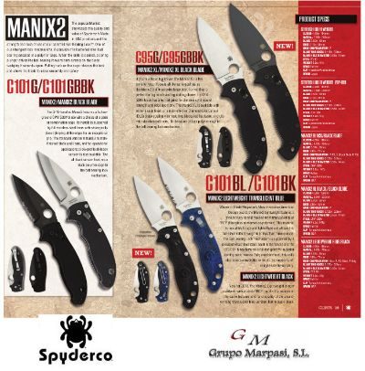 hunting knives SPYDERCO MANIX2 TACTICAL KNIVES