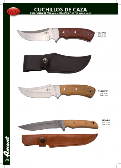 hunting knives HUNTING KNIVES WITH LEATHER CASE