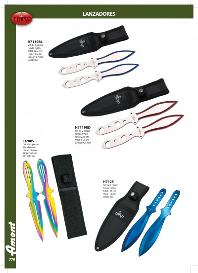 tactical knives launchers THIRD THROWING KNIVES