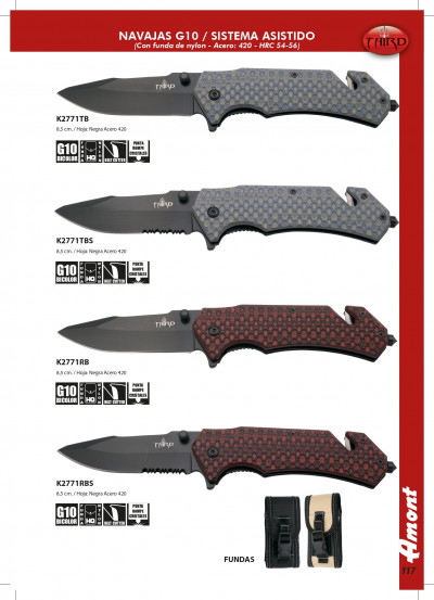 pocketknives tactical G10 FOLDING KNIVES WITH BELT CUTTER