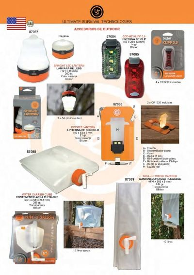 multipurpose accessories SURVIVAL PRODUCTS UST