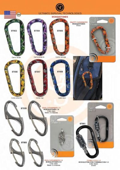 multipurpose accessories CARABINERS UST