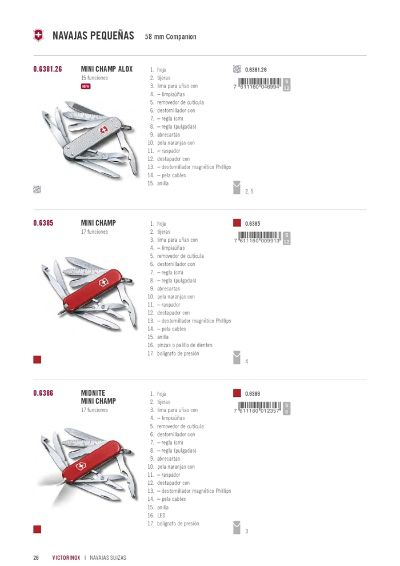 multipurpose penknives VICTORINOX MINICHAMP