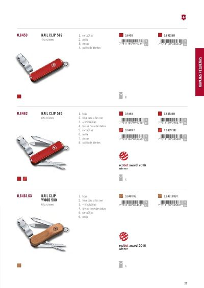 multipurpose penknives VICTORINOX NAILCLIP