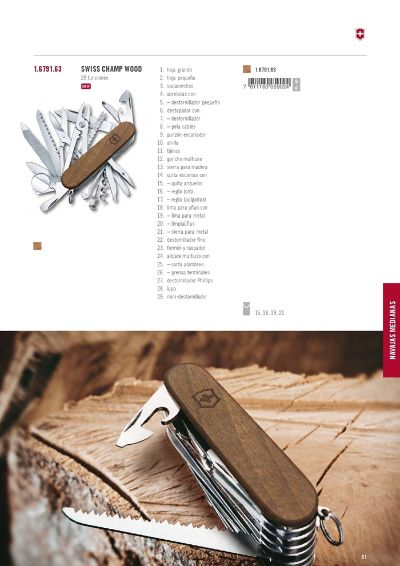 multiusos VICTORINOX SWISS CHAMP WOOD