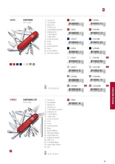 multipurpose penknives VICTORINOX HUNTSMAN