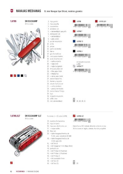 multipurpose penknives VICTORINOX SWISSCHAMP