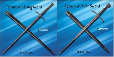 swords BATTLECRY BOSWORTH AND AGINCOURT