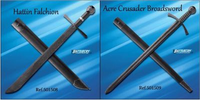 swords BATTLECRY HATTIN AND ACRE CRUSADER