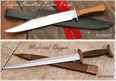 swords BOWIE AND MEDIEVAL DAGGER