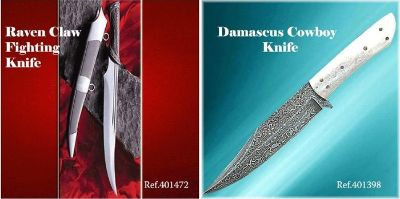 swords KNIVES RAVEN CLAW AND COWBOY