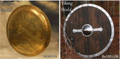 swords shields SHIELDS VIKING AND SPARTAN