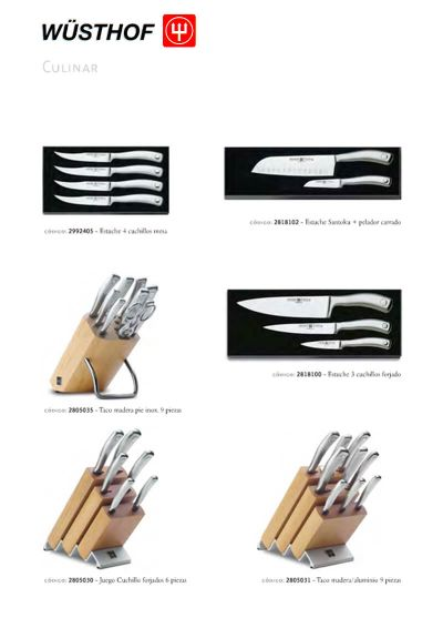 professional knives KITCHEN SETS CULINAR SERIES
